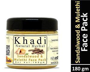 Khadi Natural Herbal Sandalwood and Mulethi Face Pack Mask 180gm