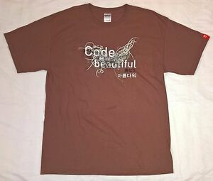Adobe Flash Platform T-Shirt Men's Large Code is Beautiful Tee Shirt