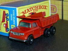 Matchbox Lesney Dodge Kew Dumper Truck 48 c1 full base SC1 V/NM & crafted box