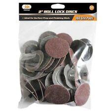 "IIT 50pc 180 Grit 2"" Type R Roll Lock Discs Pads Sanding Roloc Abrasives 82042"