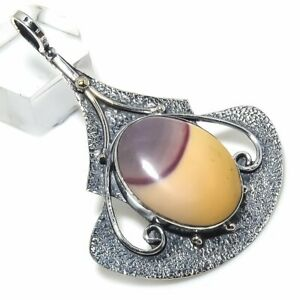 "Mookaite Gemstone 925 Sterling Silver  Pendant 2.36"""