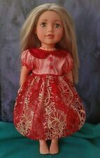 AMERICAN GIRL OUR GENERATION MERRY CHRISTMAS PARTY DRESS 18 INCH DOLL CLOTHES