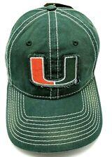 UNIVERSITY OF MIAMI HURRICANES / UM green adjustable cap / hat *NEW*