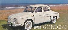 RENAULT GORDINI Brochure