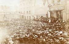 Unknown Location People waiting for the King Real Photo Postcard (160RP)