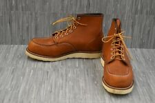 "Red Wings Oro 6"" Moc Toe 00875-3 Boots, Men's Size 10.5 E2, Brown"