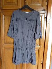 ETAM Robe grise 36 manches au niveau coudes