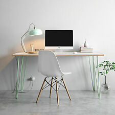 Hairpin Desk & Dining Table - Formica Birch Plywood Top - All Sizes & Colours