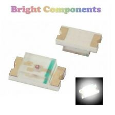 10 X 0805 Blanco Led Smd () - Ultra Brillante-UK - 1st Class Post