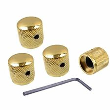 Gold Metal Volume Tone Dome Tone Guitar Speed Control Knobs With Allen Keys