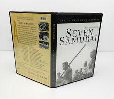 1998 Criterion Collection Seven Samurai 1954 B&W Akira Kurosawa Japanese Ex+