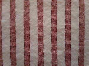 1 Pottery Barn Red VINTAGE TICKING STRIPE Pillow Sham ~ Standard