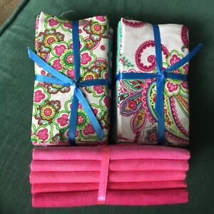 Punch Of Paisley Fabric Palette  15 x fat quarter bundle craft cotton fabric New