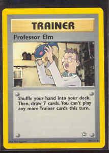 Pokemon PROFESSOR ELM 96/111 Neo Genesis - - NEAR MINT