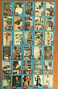 1977 Vintage Topps Star Wars Lot of 30 Cards BLUE Series Cards No DUPES
