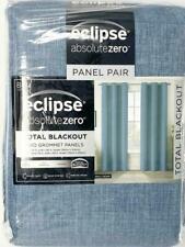 """Eclipse Absolute Zero Total Blackout  84"""" Curtains Max Denim Color 2 Panels"""
