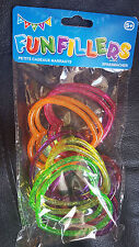 Glitter Heart Bracelets x12 pack Tobar toys Girls Birthday Party bags fillers UK