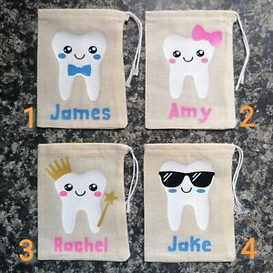 Cute Personalised Tooth Fairy Bag / Pouch