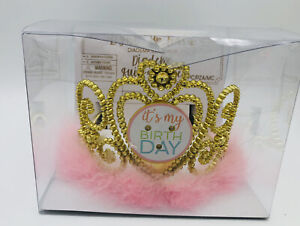Pink and White Birthday Light-Up Tiara It's My Birthday Pink Boa Girls or Adults