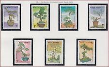 VIETNAM N°764/770** FLEURS BONSAI, 1986 Vietnam 1633-1639 Flowers Bonsai MNH