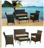 RATTAN GARDEN FURNITURE SOFA TABLE CHAIRS SET PATIO CONSERVATORY OUTDOOR WICKER.