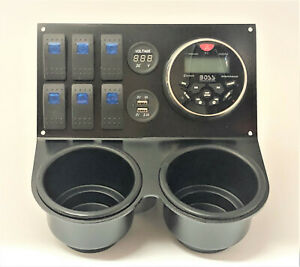 Honda pioneer 1000 cup holder, radio / stereo bracket 001