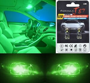 Canbus Error LED Light 168 Green Two Bulbs Interior Dome Replacement Upgrade OE