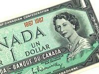 1967 Canada 1 One Dollar Uncirculated Elizabeth Canadian Banknote L664