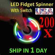 UPGRADE VERSION SWITCH CONTROL 3 MODE LED HAND SPINNER EDC TOY FIDGET LOT 200X