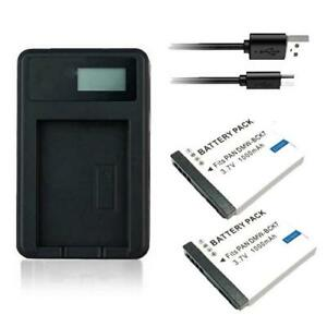 2X Battery & USB Charger DMW-BCK7 for Panasonic Lumix DMC-SZ1 DMC-FS35 DMC-FS45