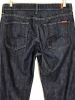 7 for All Mankind Mens Jeans Size 34 (L30.5) Bootcut Dark Wash Hemmed