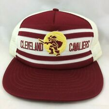 VTG Cleveland Cavaliers Trucker Hat Snapback Mesh CAVS Original Logo 70's 80's