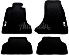 BMW 5 Series E60 E61 Black Carpets With ///M Emblem 2002-2009 TAILORED LHD