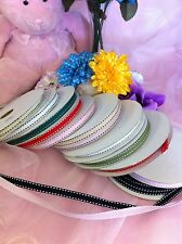 """3/8"""" Grosgrain Ribbon with Stitches 25Yards"""