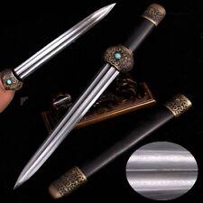New Swordsman Knight Sworn Short sword Refining pattern steel blade sharp #2348
