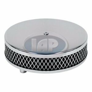 """VW BUG GHIA BUGGY BUS CHROME AIR CLEANER 2"""" NECK AC129761 Air-Cooled Volkswagen"""