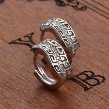 Women's Fashion Silver Plated Crystal Rhinestone Moire Ear Stud Earrings Jewelry