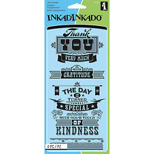 Inkadinkado Clear Stamp Special Thoughts. HUGE Saving