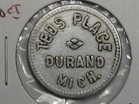 US Trade Token: Teds Place Durand, MI. G/F 10¢.  #23