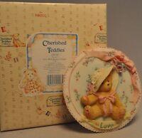 Cherished Teddies - Love - 104140 - Girls With Bonnets Plaque