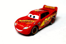 Disney Pixar Cars 3 Rust Eze Lightning McQueen Yellow Striped Wheels  Loose USA