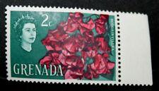 1966 'Bougainvillea' 2c Grenada Postage Stamp. Perforation 15, Mnh