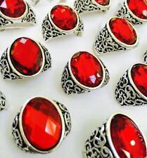 Joyería de color principal rojo de piedra para hombre