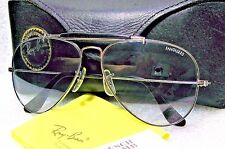 "RAY-BAN *NOS VINTAGE B&L AVIATOR RARE ""FANTASEES"" WHITE GOLD *TGC NEW SUNGLASSES"