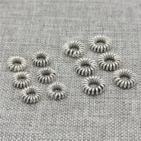 30pcs of 925 Sterling Silver Coiled Rope Ring Beads Spacers for Bracelet
