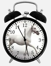 "White Horse Alarm Desk Clock 3.75"" Home or Office Decor W55 Nice For Gift"