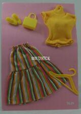Barbie sized fashion Karina doll clone fashion striped skirt from Busch new 1639