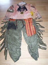 Disney Store Size 2-3 The Lone Ranger Tonto Indian Costume Pants & Top Shirt New