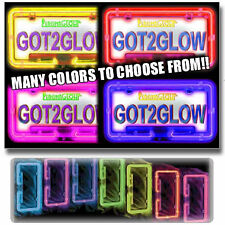 PLASMAGLOW NEON GLOWING LICENSE PLATE FRAME PURPLE