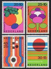 Netherlands 1972 Fruit/Flowers/Music/Festival/Art/Design/Animation 4v n32261